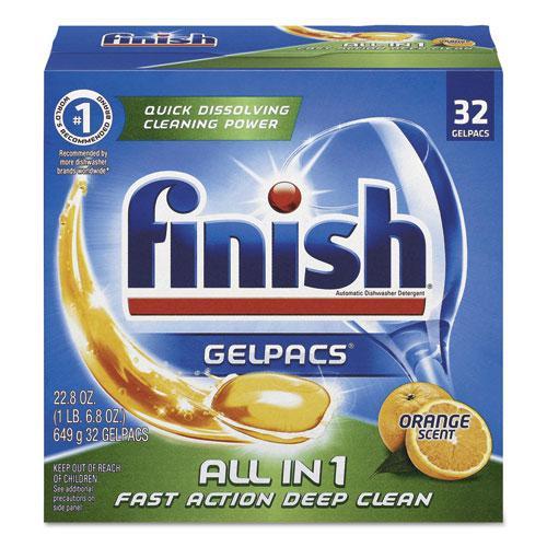 Dish Detergent Gelpacs, Orange Scent, Box of 32 Gelpacs, 8 Boxes/Carton. Picture 1
