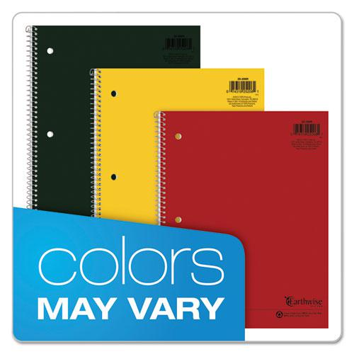 Earthwise by 100% Recycled Single Subject Notebooks, Medium/College Rule, Randomly Assorted Color Covers, 11 x 8.5, 80 Sheets. Picture 6
