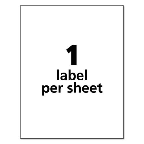 Durable Permanent ID Labels with TrueBlock Technology, Laser Printers, 8.5 x 11, White, 50/Pack. Picture 6