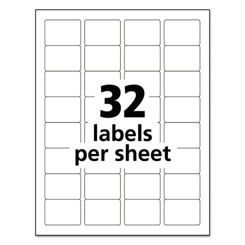 Durable Permanent ID Labels with TrueBlock Technology, Laser Printers, 1.25 x 1.75, White, 32/Sheet, 50 Sheets/Pack. Picture 5