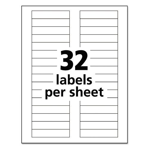 Durable Permanent ID Labels with TrueBlock Technology, Laser Printers, 0.63 x 3, White, 32/Sheet, 50 Sheets/Pack. Picture 6