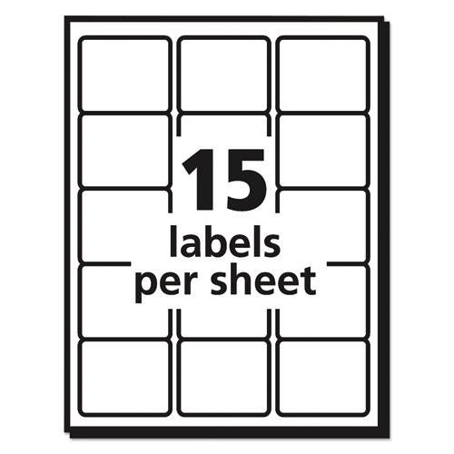 Durable Permanent ID Labels with TrueBlock Technology, Laser Printers, 2 x 2.63, White, 15/Sheet, 50 Sheets/Pack. Picture 7