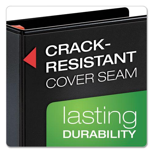 """XtraLife ClearVue Non-Stick Locking Slant-D Ring Binder, 3 Rings, 4"""" Capacity, 11 x 8.5, Black. Picture 4"""