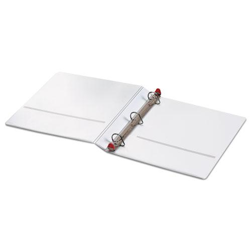 """Treated ClearVue Locking Slant-D Ring Binder, 3 Rings, 1"""" Capacity, 11 x 8.5, White. Picture 3"""