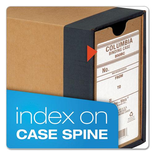 """COLUMBIA Recycled Binding Cases, 2 Rings, 2.5"""" Capacity, 11 x 8.5, Kraft. Picture 4"""