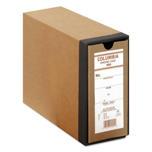 """COLUMBIA Recycled Binding Cases, 2 Rings, 3.13"""" Capacity, 11 x 8.5, Kraft. Picture 1"""