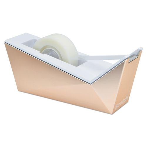 """Facet Design One-Handed Dispenser, with 3/4 x 350 Tape Roll, 1"""" Core, Copper. Picture 3"""
