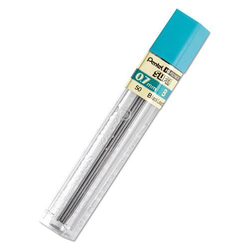 Super Hi-Polymer Lead Refills, 0.7 mm, B, Black, 12/Tube. Picture 1