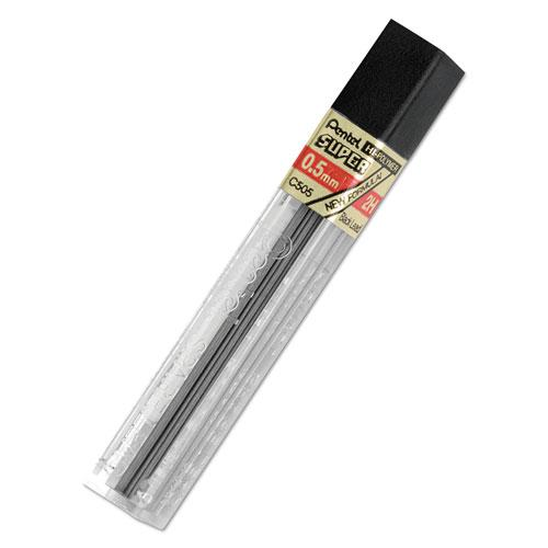 Super Hi-Polymer Lead Refills, 0.5 mm, 2H, Black, 12/Tube. Picture 1