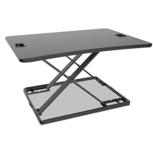 "AdaptivErgo Ultra-Slim Sit-Stand Desk, 31.33"" x 21.63"" x 1.5"" to 16"", Black. Picture 1"