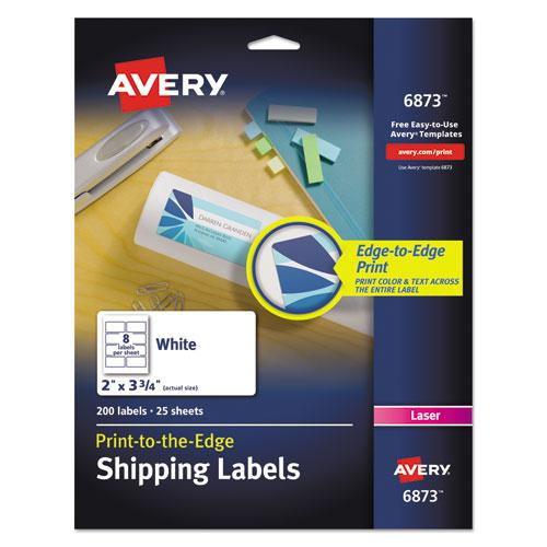 Vibrant Laser Color-Print Labels w/ Sure Feed, 2 x 3 3/4, White, 200/PK. Picture 1