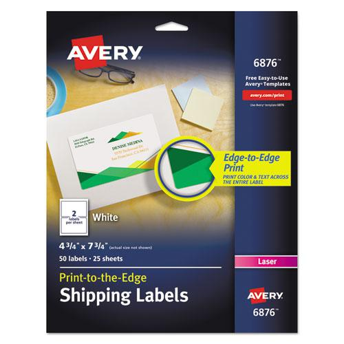 Vibrant Laser Color-Print Labels w/ Sure Feed, 4 3/4 x 7 3/4, White, 50/Pack. Picture 1