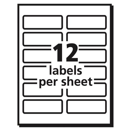 Vibrant Laser Color-Print Labels w/ Sure Feed, 1 1/4 x 3 3/4, White, 300/Pack. Picture 6