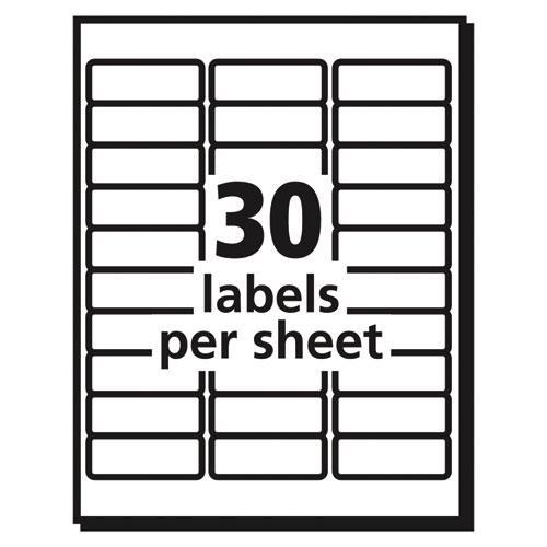Vibrant Inkjet Color-Print Labels w/ Sure Feed, 1 x 2 5/8, Matte White, 600/PK. Picture 6
