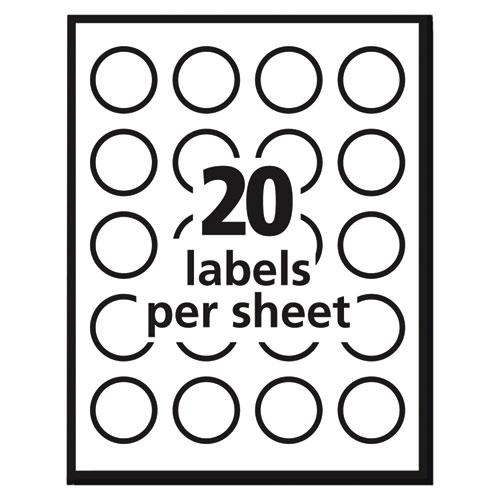 """Vibrant Inkjet Color-Print Labels w/ Sure Feed, 1 1/2"""" dia, White, 400/PK. Picture 5"""