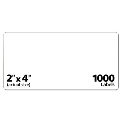 Repositionable Shipping Labels w/Sure Feed, Inkjet/Laser, 2 x 4, White, 1000/Box. Picture 3