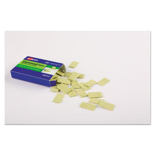 "Gummed Reinforced Index Tabs, 1/12-Cut Tabs, Gray, 0.44"" Wide, 50/Pack. Picture 3"