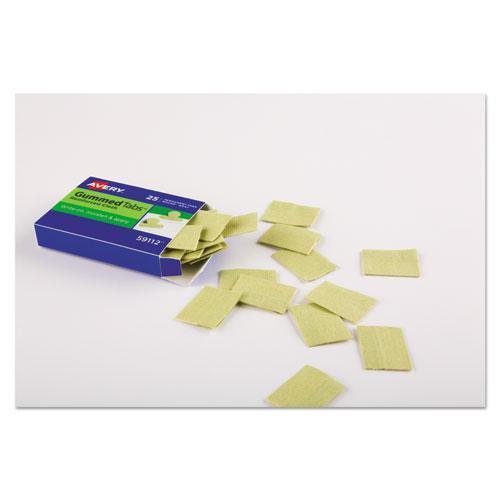 "Gummed Reinforced Index Tabs, 1/5-Cut Tabs, Olive Green, 1"" Wide, 50/Pack. Picture 3"