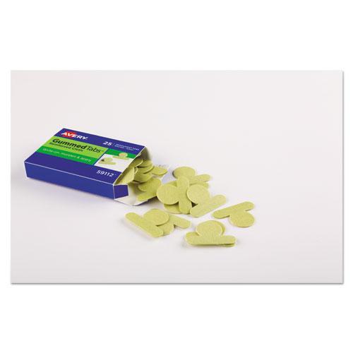 "Gummed Reinforced Index Tabs, 1/12-Cut Tabs, Olive Green, 0.5"" Wide, 25/Pack. Picture 3"