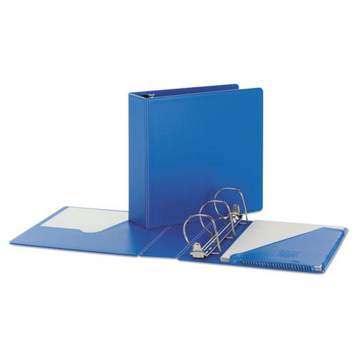 """SuperStrength Locking Slant-D Ring Binder, 3 Rings, 4"""" Capacity, 11 x 8.5, Blue. Picture 2"""