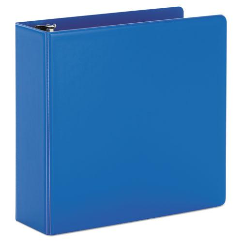 """SuperStrength Locking Slant-D Ring Binder, 3 Rings, 4"""" Capacity, 11 x 8.5, Blue. Picture 1"""