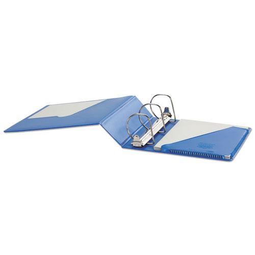 """SuperStrength Locking Slant-D Ring Binder, 3 Rings, 4"""" Capacity, 11 x 8.5, Blue. Picture 3"""