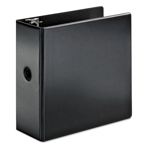 "SuperStrength Locking Slant-D Ring Binder, 3 Rings, 5"" Capacity, 11 x 8.5, Black. Picture 1"