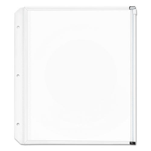 Expanding Zipper Binder Pockets, 11 x 8 1/2, Clear, 3/Pack. Picture 1