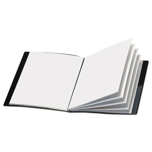 ShowFile Display Book w/Custom Cover Pocket, 12 Letter-Size Sleeves, Black. Picture 2