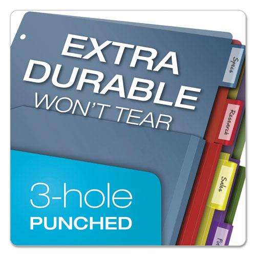 Expanding Pocket Index Dividers, 5-Tab, 11 x 8.5, Assorted, 1 Set/Pack. Picture 4