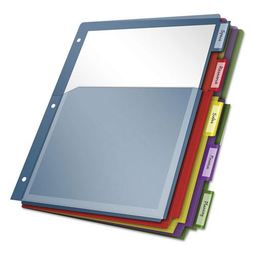 Expanding Pocket Index Dividers, 5-Tab, 11 x 8.5, Assorted, 1 Set/Pack. Picture 1
