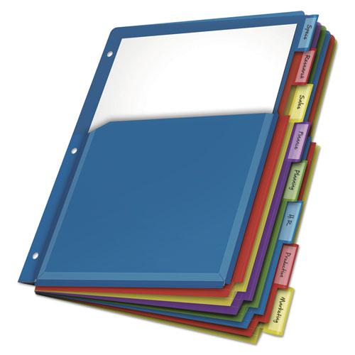 Expanding Pocket Index Dividers, 8-Tab, 11 x 8.5, Assorted, 1 Set/Pack. Picture 2