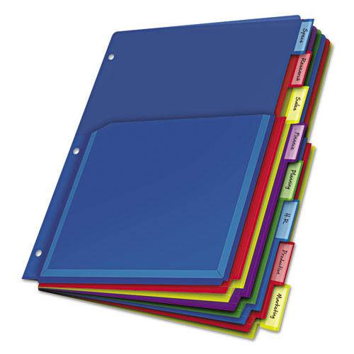 Expanding Pocket Index Dividers, 8-Tab, 11 x 8.5, Assorted, 1 Set/Pack. Picture 1