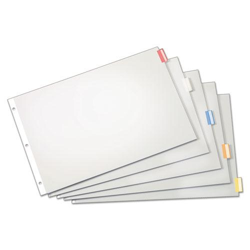 Paper Insertable Dividers, 5-Tab, 11 x 17, White, 1 Set. Picture 2