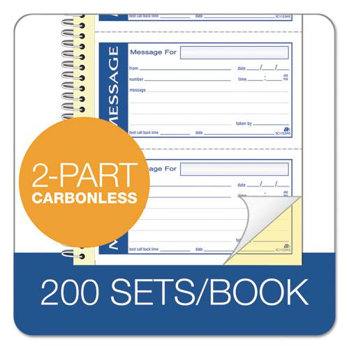 Write 'n Stick Phone Message Pad, 2 3/4 x 4 3/4, Two-Part Carbonless, 200 Forms. Picture 4