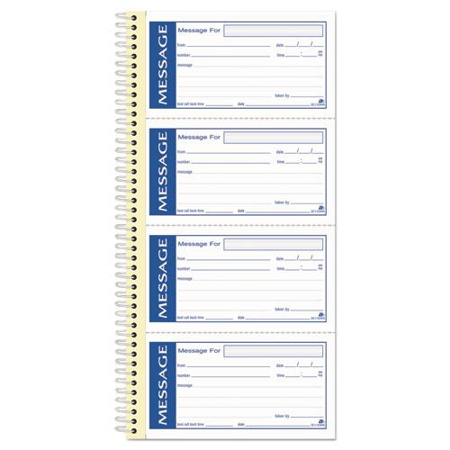 Write 'n Stick Phone Message Pad, 2 3/4 x 4 3/4, Two-Part Carbonless, 200 Forms. Picture 1