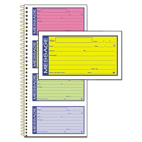 Wirebound Telephone Message Book, Two-Part Carbonless, 200 Forms. Picture 1
