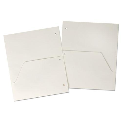 Double Pocket Dividers for Ring Binders, 11 x 8.5, White, 5/Pack. Picture 1