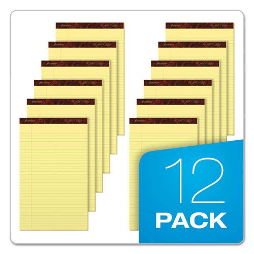 Gold Fibre Quality Writing Pads, Wide/Legal Rule, 50 Canary-Yellow 8.5 x 14 Sheets, Dozen. Picture 6