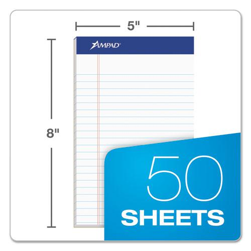 Recycled Writing Pads, Narrow Rule, 5 x 8, White, 50 Sheets, Dozen. Picture 2