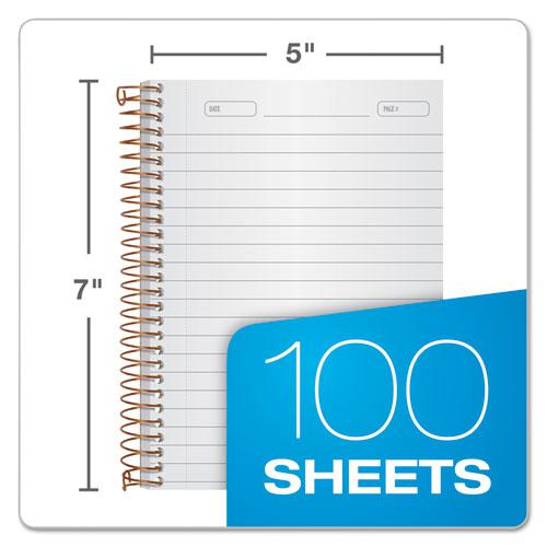 Gold Fibre Personal Notebooks, 1 Subject, Medium/College Rule, Designer Gray Cover, 7 x 5, 100 Sheets. Picture 2