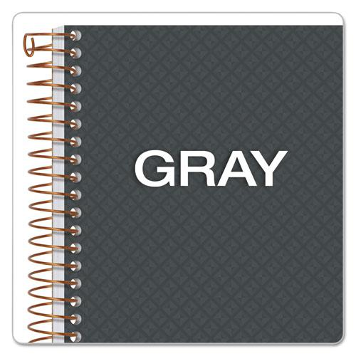 Gold Fibre Personal Notebooks, 1 Subject, Medium/College Rule, Designer Gray Cover, 7 x 5, 100 Sheets. Picture 7