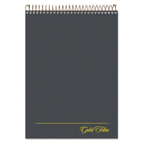 Gold Fibre Wirebound Writing Pad w/ Cover, 1 Subject, Project Notes, Gray Cover, 8.5 x 11.75, 70 Sheets. Picture 1