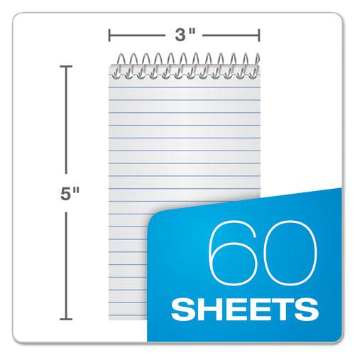 Memo Books, Narrow Rule, 3 x 5, White, 60 Sheets, 3/Pack. Picture 2