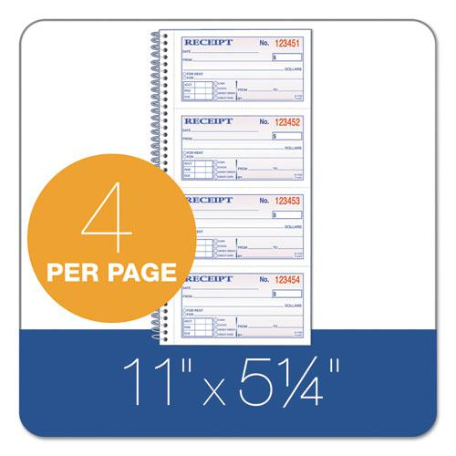 Two-Part Rent Receipt Book, 2.75 x 4.75, Carbonless, 200 Forms. Picture 2