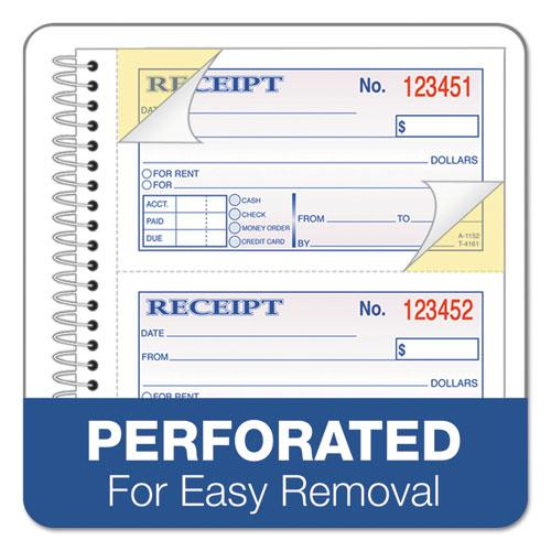 Two-Part Rent Receipt Book, 2.75 x 4.75, Carbonless, 200 Forms. Picture 4