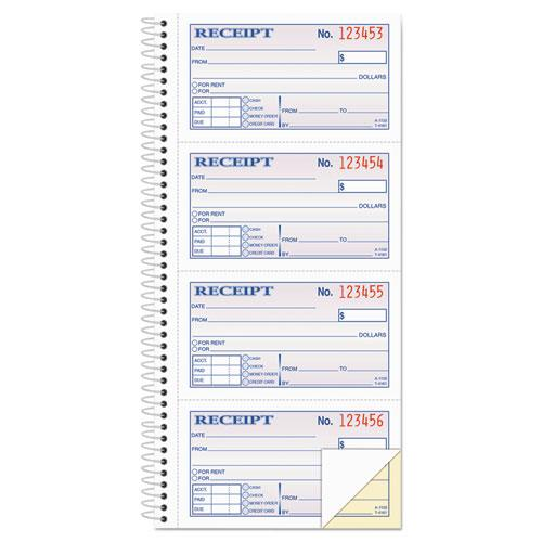 Two-Part Rent Receipt Book, 2.75 x 4.75, Carbonless, 200 Forms. Picture 1