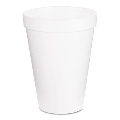 Foam Drink Cups, 12oz, White, 1000/Carton. Picture 1