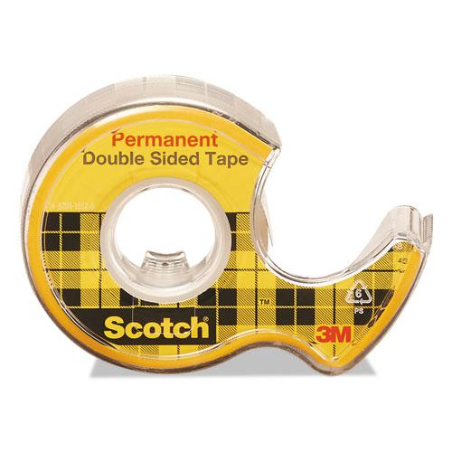 """Double-Sided Permanent Tape in Handheld Dispenser, 1"""" Core, 0.5"""" x 20.83 ft, Clear, 3/Pack. Picture 2"""