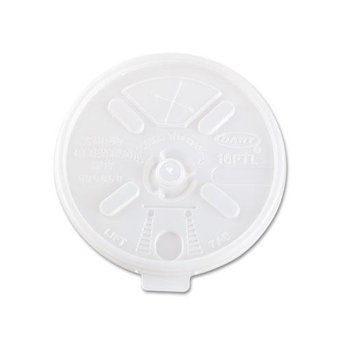 Translucent Lids for 12-24oz Foam Cups, Straw Slot, 1000/Carton. Picture 2
